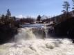 Stor vannføring ved pebubrua den 19 mai i år! Bildet er tatt av Bente Aune.