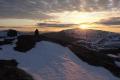 Solnedgang sett fra Langøyfjellet kl. 21:38, 10. mai 2014. Fotograf: Daniel Zwick