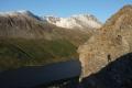 Utsikt mot Snota på vei opp til Vassdalsfjellet, 27. juni 2014. Fotograf: Daniel Zwick
