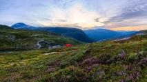 Min første telttur, Vassdalsvatnet 23. august 2016. Fotograf: Kim Even Fiske