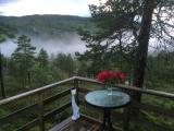 En regnfull sommerdag på hytta Knausen. Fotograf: Bente Aune