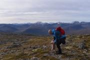 På toppen av Tindfjellet, 16. september 2018.  Fotograf: Kaj Fredrik Johansen