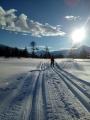 Nypreparerte skispor, 10. februar 2018. Fotograf: Vera Wigum