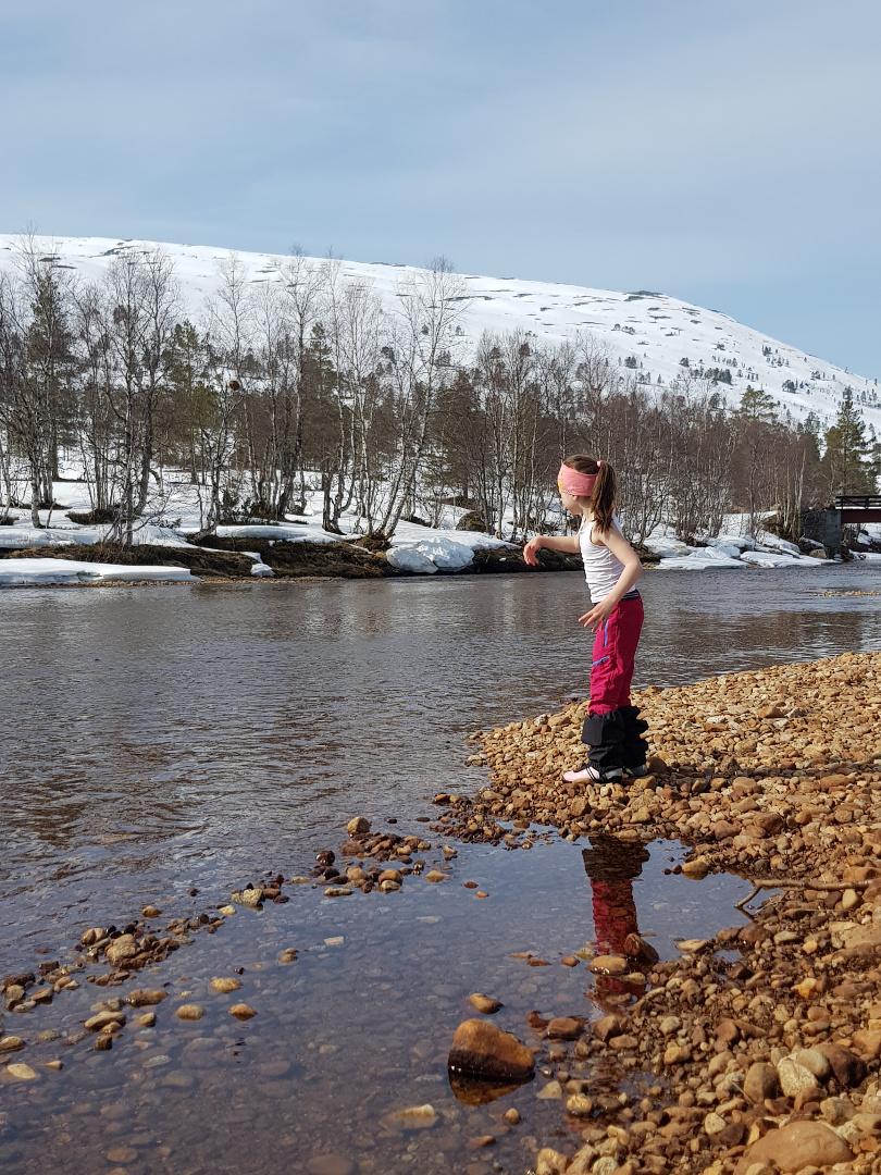 Steinkast ved Langøya, 19. april 2019. Fotograf: Mira Sæther