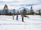 Påskeharen koste seg på skitur påsken 2019, 19. april. Fotograf: Vigdis Rodal