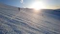 Kveldssol og fint skiføre ned igjen