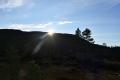 Sola titter over Tindfjellet, 6. oktober 2020. Fotograf: Jan-Birger Fjellvang Heftøy