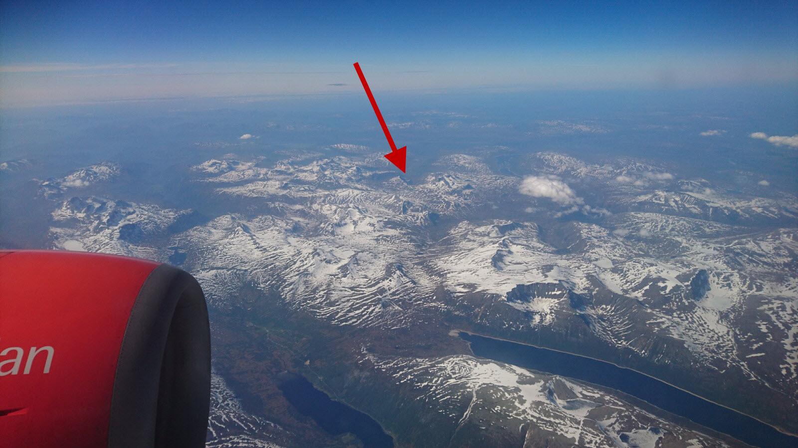 Utsikt fra SK4172 over Trollheimen