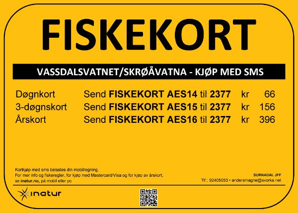 Vassdalsvatnet Skrøåvatna - 2015